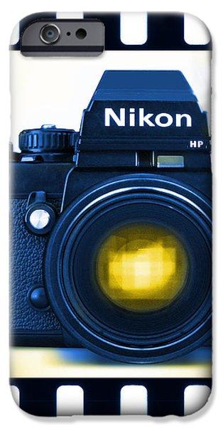35mm BLUES Nikon F-3hp iPhone Case by Mike McGlothlen