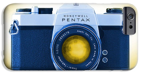 35mm iPhone Cases - 35mm BLUES Pentax Spotmatic iPhone Case by Mike McGlothlen