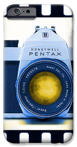 35mm BLUES Pentax Spotmatic iPhone Case by Mike McGlothlen
