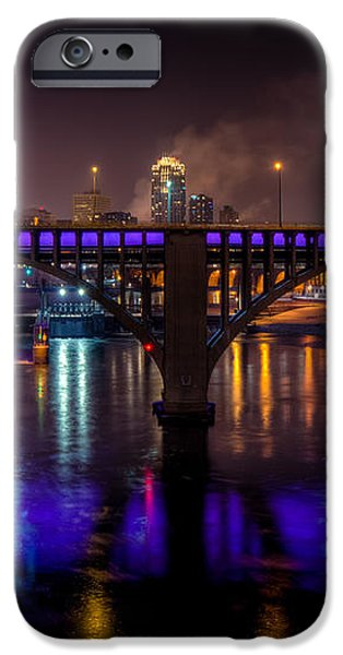 35W Bridge in Vikings Purple iPhone Case by Mark Goodman