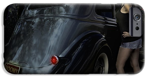 Betty Ford iPhone Cases - 36 Ford Sedan Roomy with a View iPhone Case by Chas Sinklier