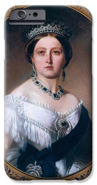 Royal Family Arts iPhone Cases - 36. Queen Victoria of the United Kingdom Art Print iPhone Case by Royal Portraits