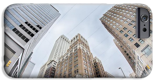 Business iPhone Cases - Tulsa City Skyline Around Downtown Streets iPhone Case by Alexandr Grichenko