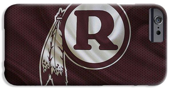 Christmas Greeting iPhone Cases - Washington Redskins iPhone Case by Joe Hamilton