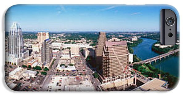 Connection iPhone Cases - 360 Degree View Of A City, Austin iPhone Case by Panoramic Images