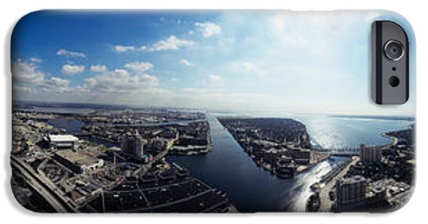 Built Structure iPhone Cases - 360 Degree View Of A City, Tampa iPhone Case by Panoramic Images