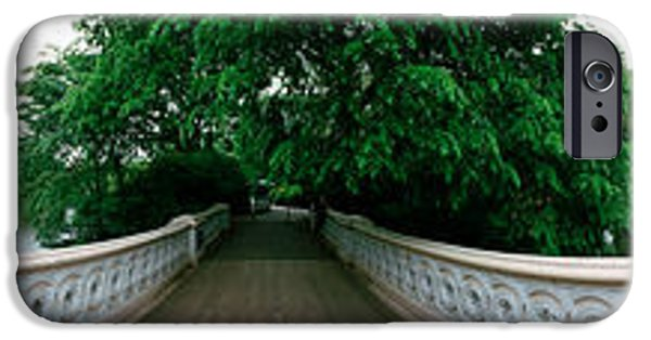 Bow Bridge iPhone Cases - 360 Degree View Of A Footbridge In An iPhone Case by Panoramic Images