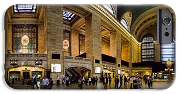 Panoramic iPhone Cases - 360 Panorama of Grand Central Station iPhone Case by David Smith