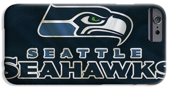 Recently Sold -  - Christmas Greeting iPhone Cases - Seattle Seahawks iPhone Case by Joe Hamilton