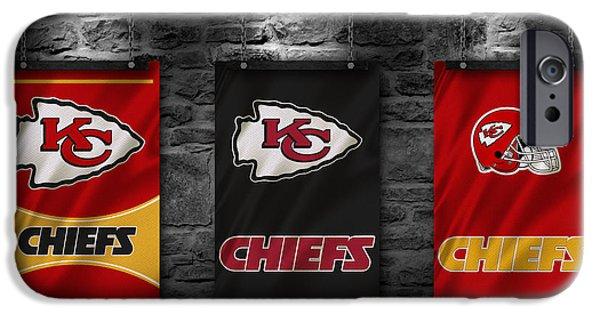 Chief iPhone Cases - Kansas City Chiefs iPhone Case by Joe Hamilton