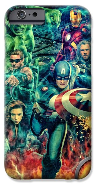 Fury iPhone Cases - The Avengers Film iPhone Case by Victor Gladkiy
