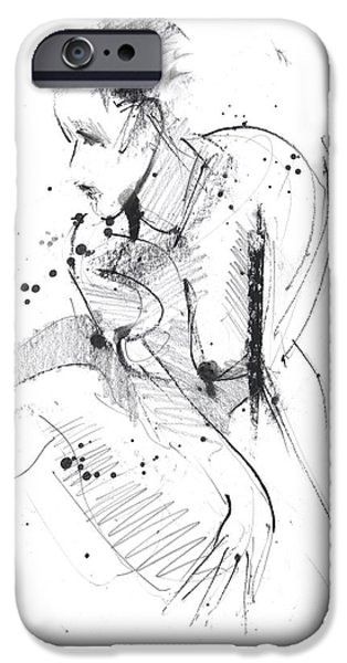 Charcoal Mixed Media iPhone Cases - RCNpaintings.com iPhone Case by Chris N Rohrbach