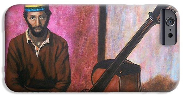 Upright Bass iPhone Cases - 385 Ron Carter - bassist iPhone Case by Sigrid Tune
