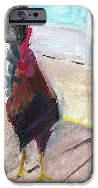 Cock iPhone Cases - RCNpaintings.com iPhone Case by Chris N Rohrbach