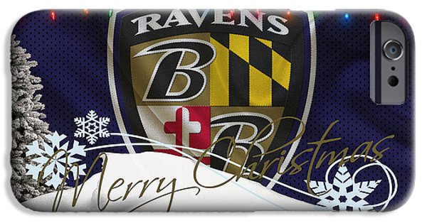 Sports iPhone Cases - Baltimore Ravens iPhone Case by Joe Hamilton