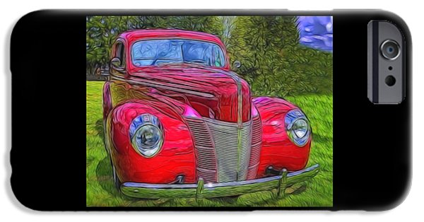 Automotive iPhone Cases - 39 Ford Coupe  iPhone Case by Thom Zehrfeld