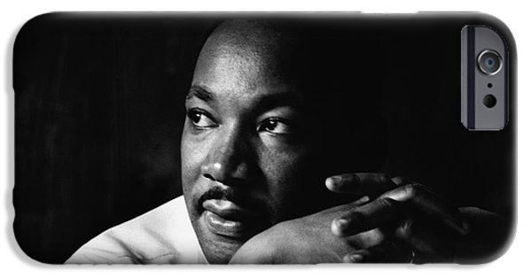 Martin Luther King Jr iPhone Cases - 39- Martin Luther King Jr. iPhone Case by Joseph Keane