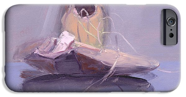 Ballet Paintings iPhone Cases - RCNpaintings.com iPhone Case by Chris N Rohrbach