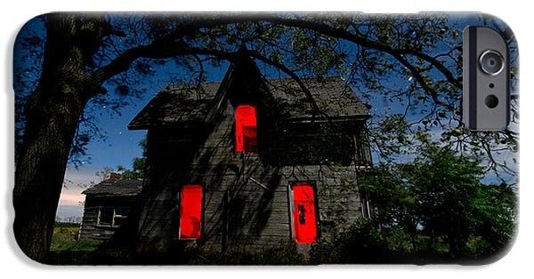 Haunted iPhone Cases - 3am at the Farmhouse  iPhone Case by Cale Best