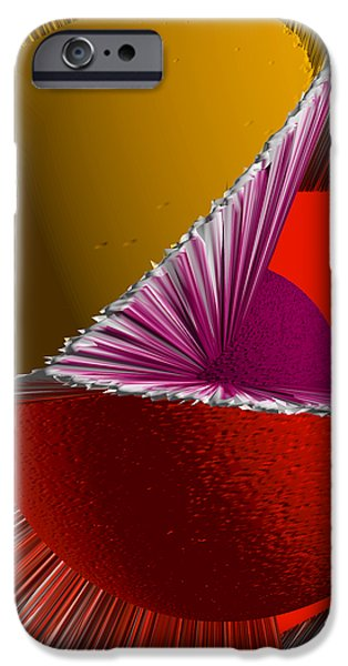 3D Abstract 5 iPhone Case by Angelina Vick