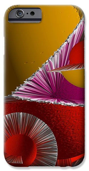 3D Abstract 6 iPhone Case by Angelina Vick