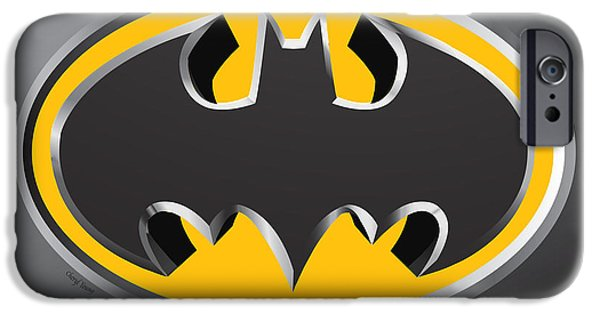 Fictional iPhone Cases - 3D Bat iPhone Case by Cheryl Young