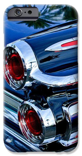 500 iPhone Cases - 1962 Dodge Polara 500 Taillights iPhone Case by Jill Reger