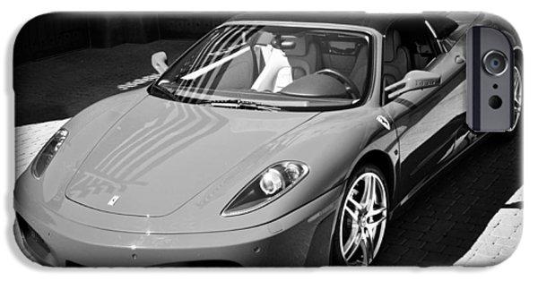 Black Spider iPhone Cases - 2007 Ferrari F430 Spider F1 iPhone Case by Jill Reger
