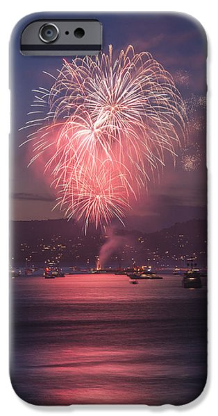 4th July Pyrography iPhone Cases - 2014 4th of July Firework Celebration.  iPhone Case by Jason  Choy