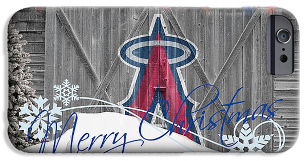 Mlb iPhone Cases - Anaheim Angels iPhone Case by Joe Hamilton
