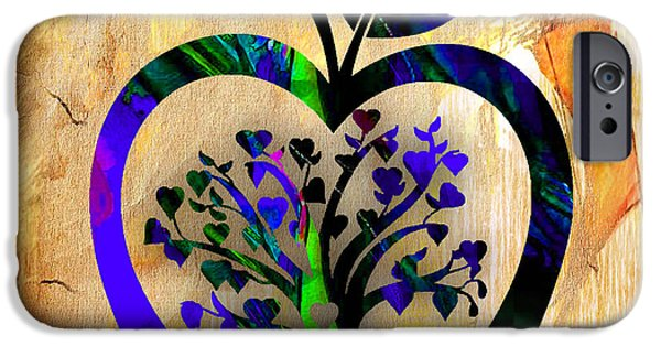 Backgrounds iPhone Cases - Apple Tree iPhone Case by Marvin Blaine