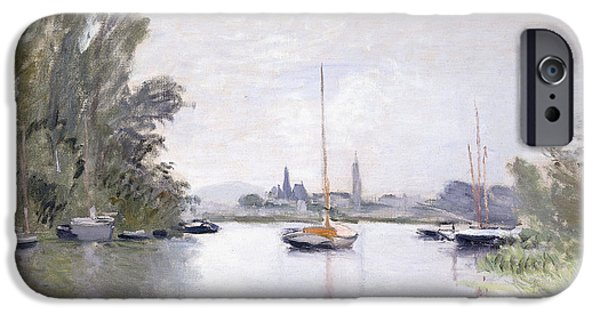 Yachting iPhone Cases - Argenteuil iPhone Case by Claude Monet