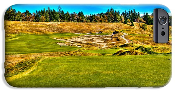 Us Open Photographs iPhone Cases - #4 at Chambers Bay Golf Course - Location of the 2015 U.S. Open Championship iPhone Case by David Patterson