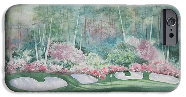 Augusta iPhone Cases - Augusta National 13th Hole iPhone Case by Deborah Ronglien