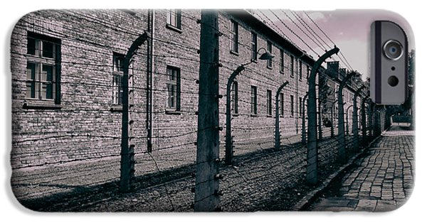 Against The War iPhone Cases - Auschwitz  iPhone Case by Mountain Dreams