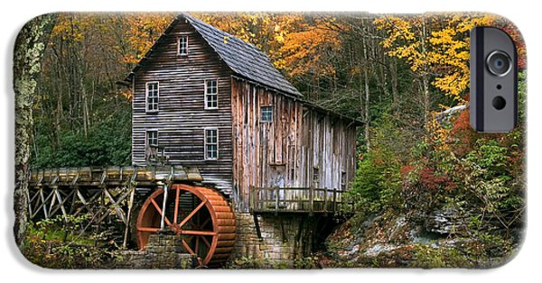 Grist Mill iPhone Cases - Autumn at the Grist Mill iPhone Case by Michael Shake