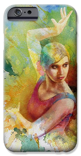 Ballet Dancers Paintings iPhone Cases - Ballet Dancer iPhone Case by Corporate Art Task Force