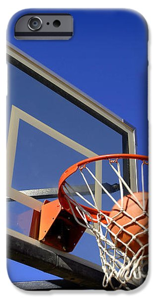 Basketball Shot iPhone Case by Lane Erickson
