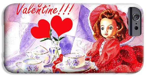 Tea Party iPhone Cases - Be My Valentine iPhone Case by Irina Sztukowski