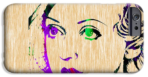 Stars iPhone Cases - Bette Davis Collection iPhone Case by Marvin Blaine
