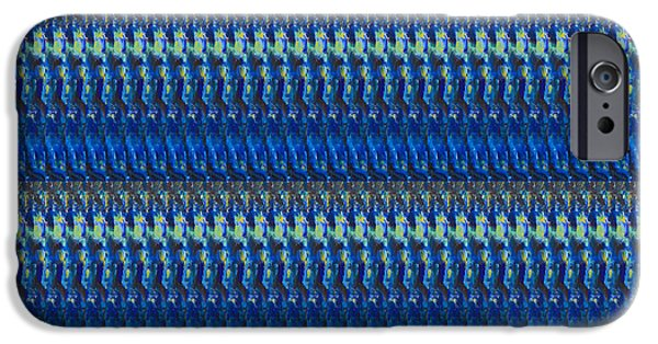 Diy iPhone Cases - BLUE SPARKLES Artist created Images Textures Patterns Background Designs  and Color Tones n Color Sh iPhone Case by Navin Joshi