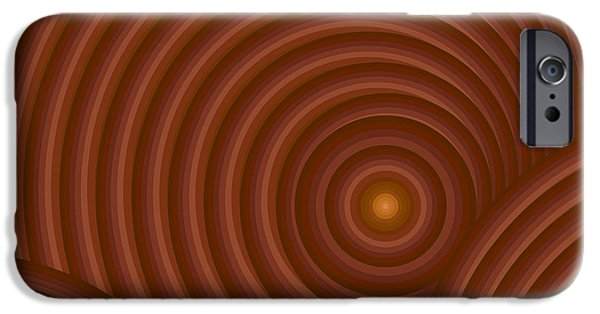 Brown Toned Art iPhone Cases - Brown Abstract iPhone Case by Frank Tschakert