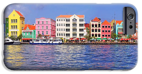 West Indies iPhone Cases - Buildings At The Waterfront iPhone Case by Panoramic Images