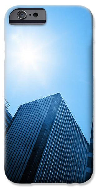Business skyscrapers iPhone Case by Michal Bednarek