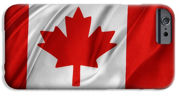 Patriotism iPhone Cases - Canadian flag iPhone Case by Les Cunliffe