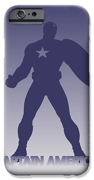 Thor iPhone Cases - Captain America iPhone Case by Joe Hamilton