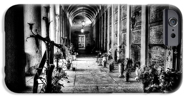 Headstones iPhone Cases - Cemetery of Verona iPhone Case by Traven Milovich