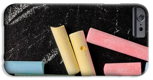 Elementary iPhone Cases - Chalk pieces iPhone Case by Tom Gowanlock
