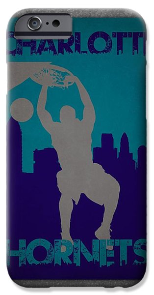 Hornet iPhone Cases - Charlotte Hornets iPhone Case by Joe Hamilton