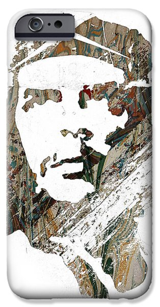 Revolution Mixed Media iPhone Cases - Che Guevara iPhone Case by Celestial Images